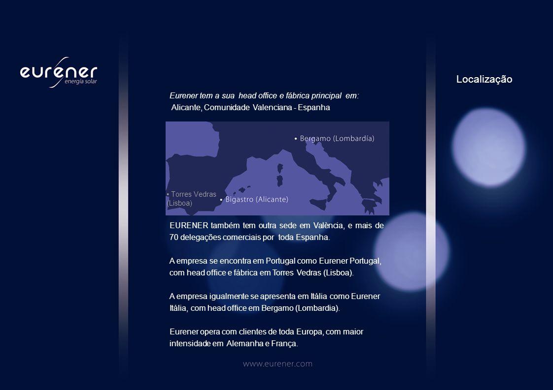 Eurener tem a sua head office e fábrica principal em: Alicante, Comunidade Valenciana - Espanha EURENER também tem outra sede em València, e mais de 70 delegações comerciais por toda Espanha.