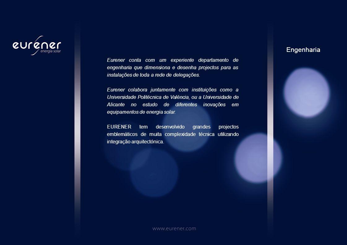 EURENER fabrica e distribui módulos solares fotovoltáicos e inversores para conexão a rede.