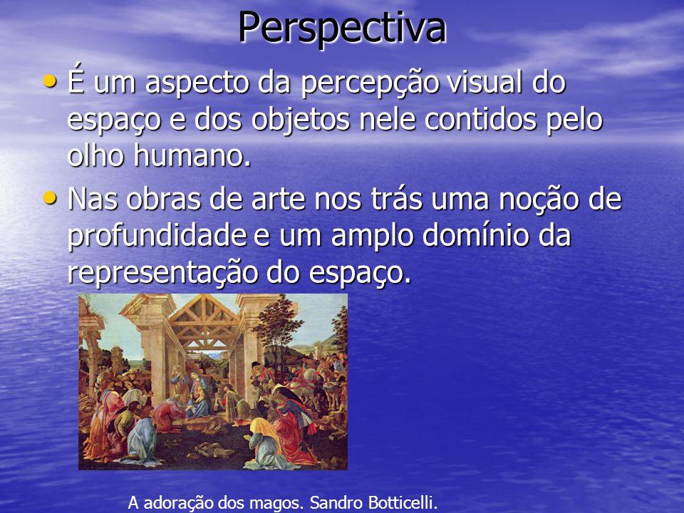 Perspectiva •É•É•É•É um aspecto da percepção visual do espaço e dos objetos nele contidos pelo olho humano.