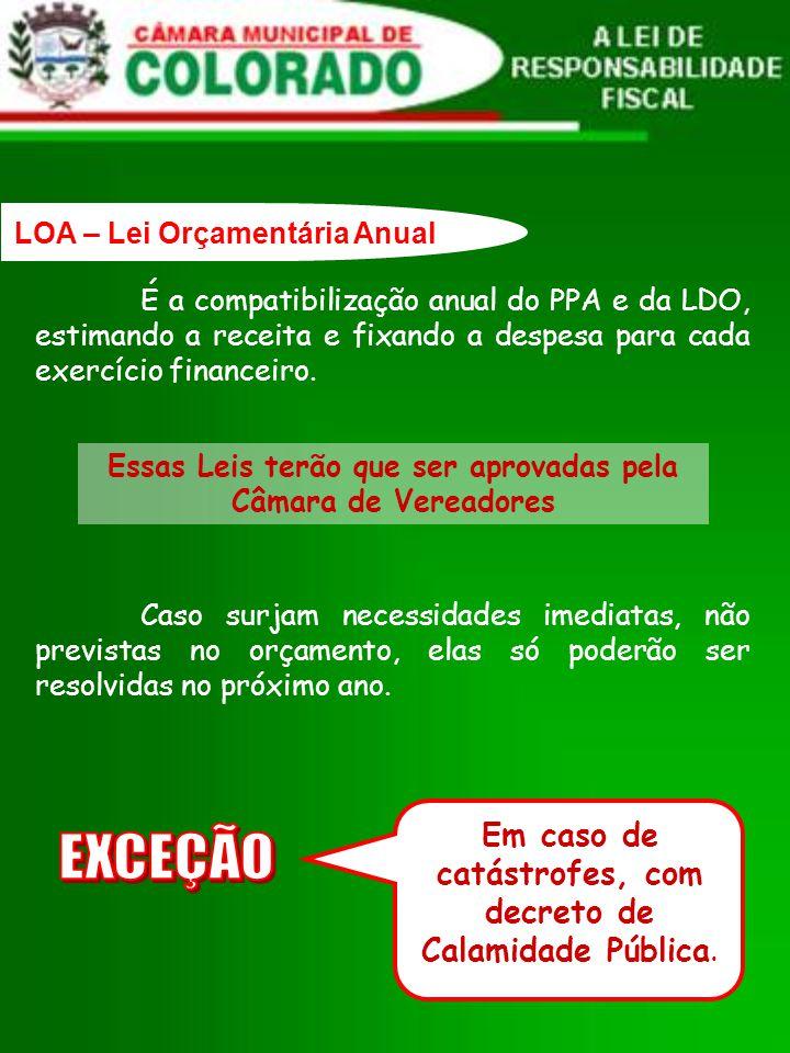 É a compatibilização anual do PPA e da LDO, estimando a receita e fixando a despesa para cada exercício financeiro.