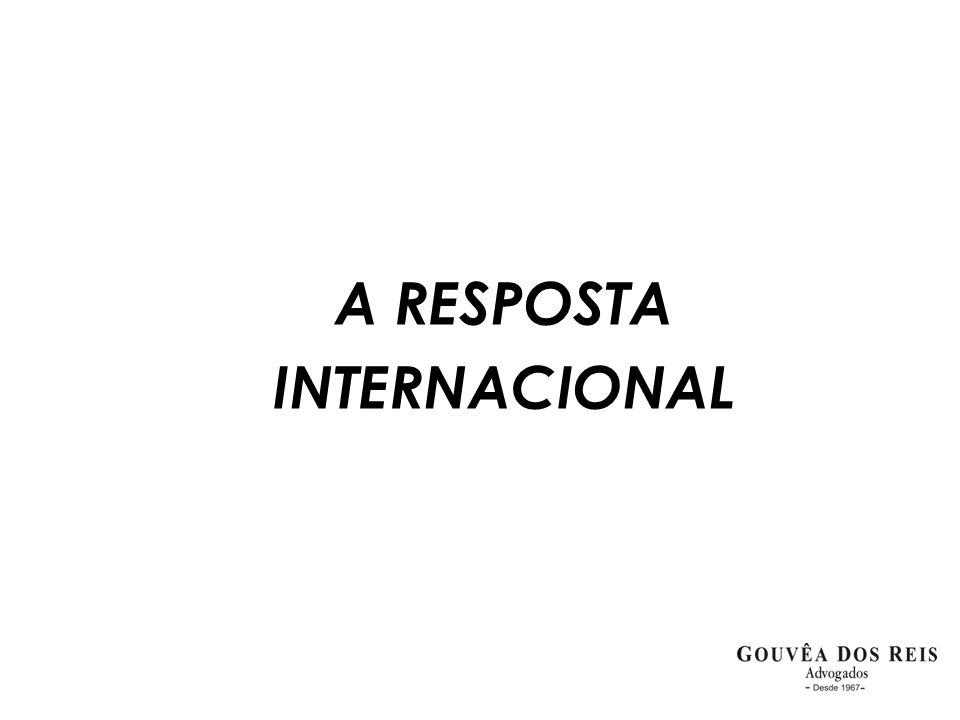 A RESPOSTA INTERNACIONAL