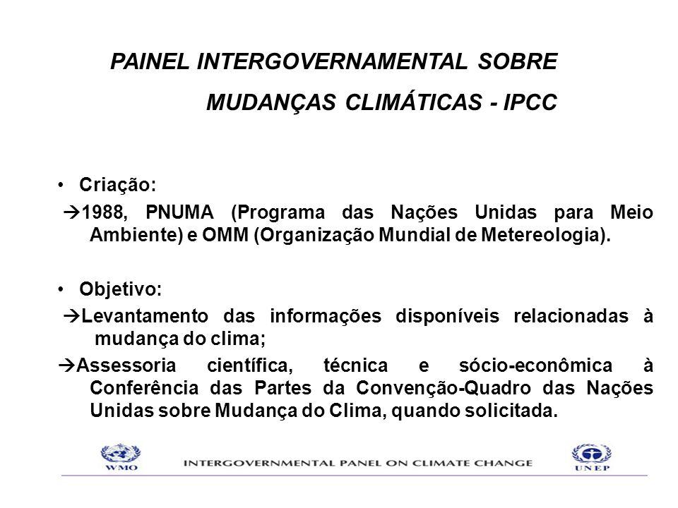 •Criação:  1988, PNUMA (Programa das Nações Unidas para Meio Ambiente) e OMM (Organização Mundial de Metereologia). •Objetivo:  Levantamento das inf