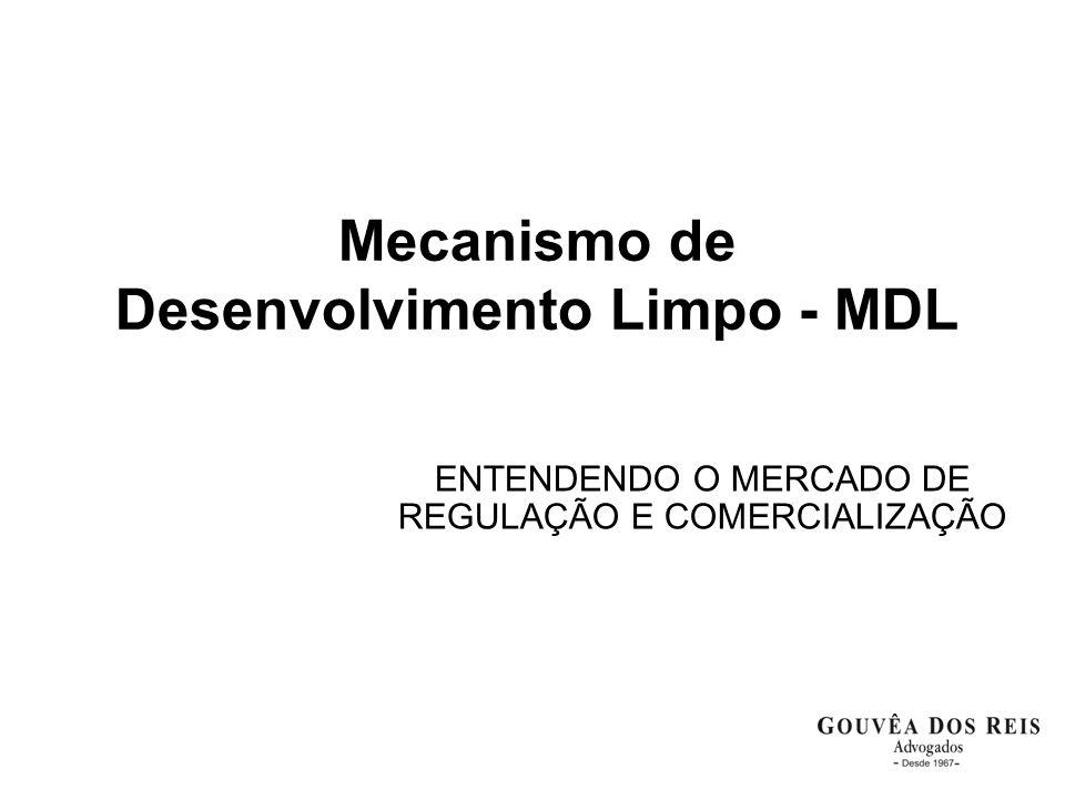 Mecanismo de Desenvolvimento Limpo - MDL ENTENDENDO O MERCADO DE REGULAÇÃO E COMERCIALIZAÇÃO