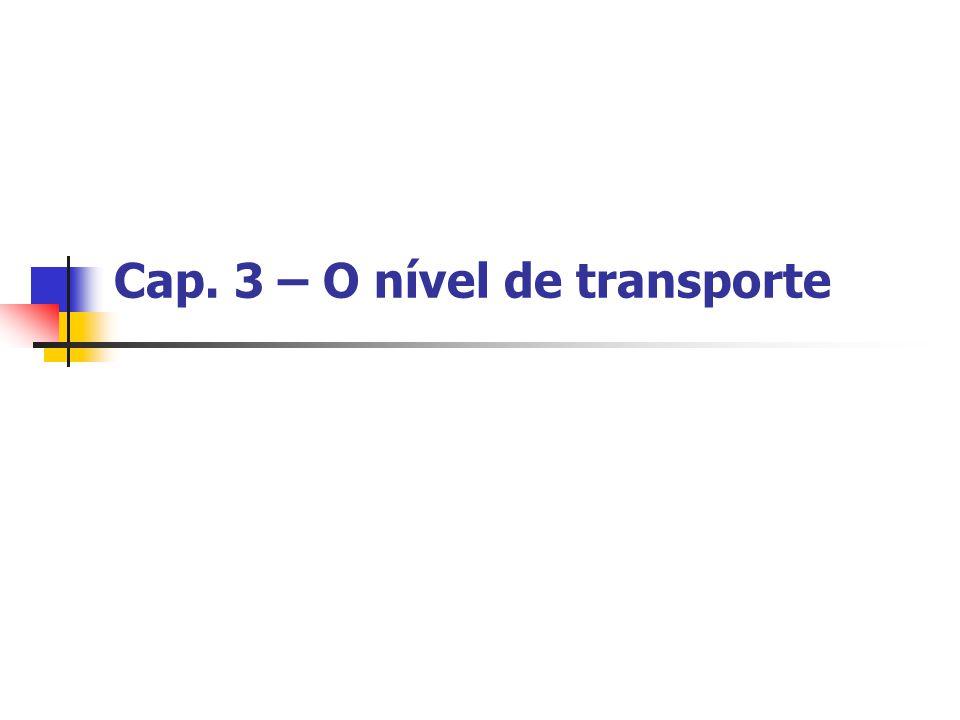 Cap. 3 – O nível de transporte