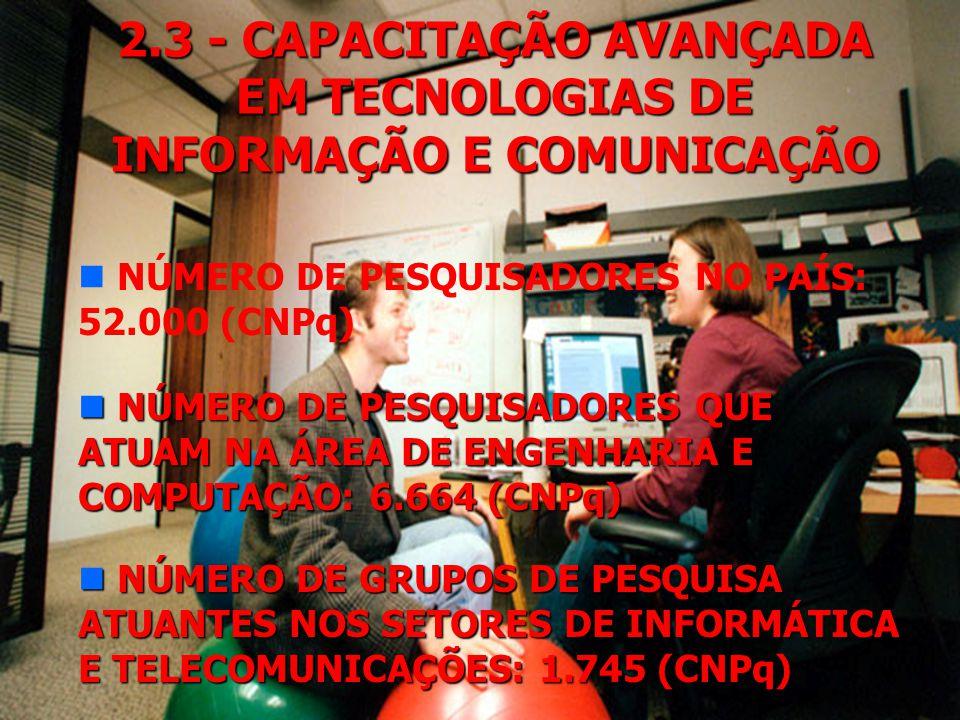 2.2 - EDUCAÇÃO A DISTÂNCIA n PROGRAMA TV ESCOLA n TELECURSO 2000 (TELESSALAS 2000) n UNIVERSIDADE FEDERAL DE SANTA CATARINA n CONSÓRCIO UNIREDE