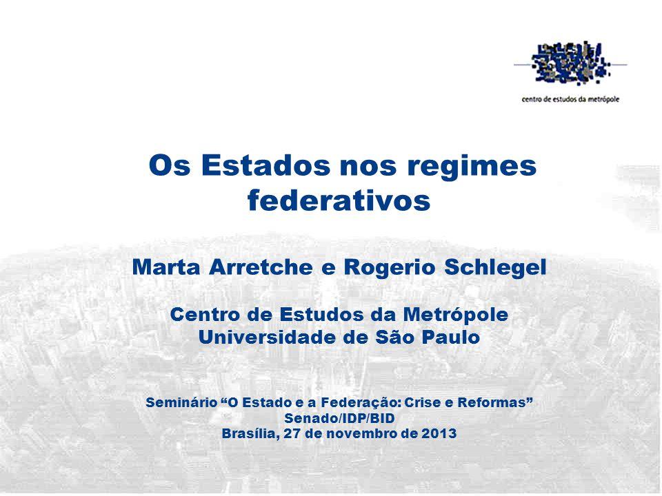 Esta apresentação • Questão central: qual a referência para afirmar que os Estados perdem espaço na Federação Brasileira.