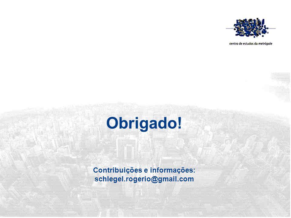 Obrigado! Contribuições e informações: schlegel.rogerio@gmail.com