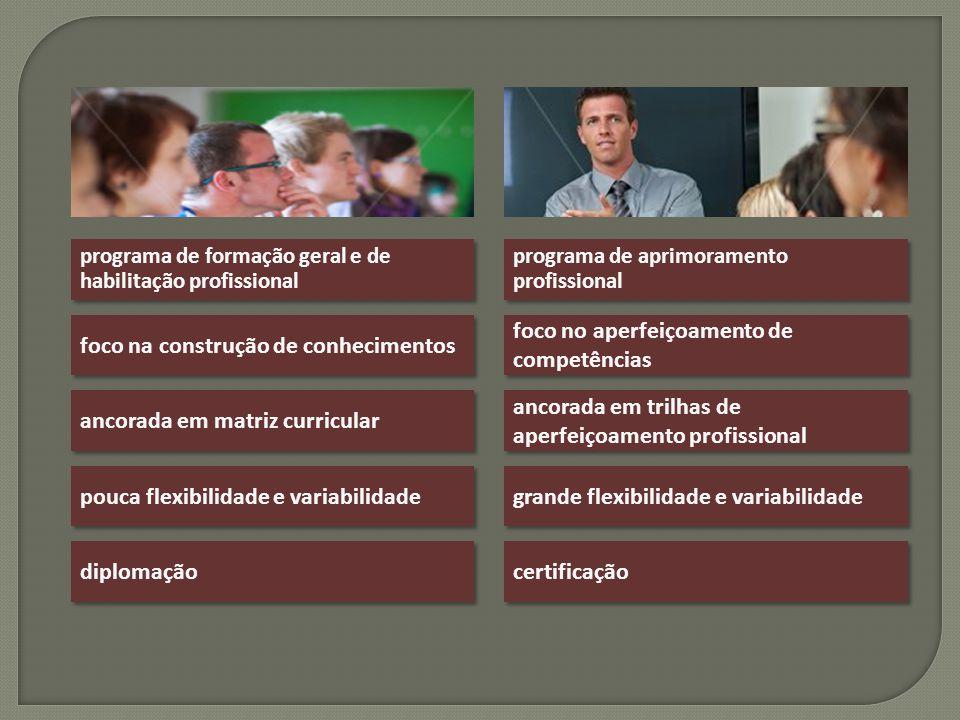 programa de formação geral e de habilitação profissional programa de aprimoramento profissional foco na construção de conhecimentos foco no aperfeiçoa