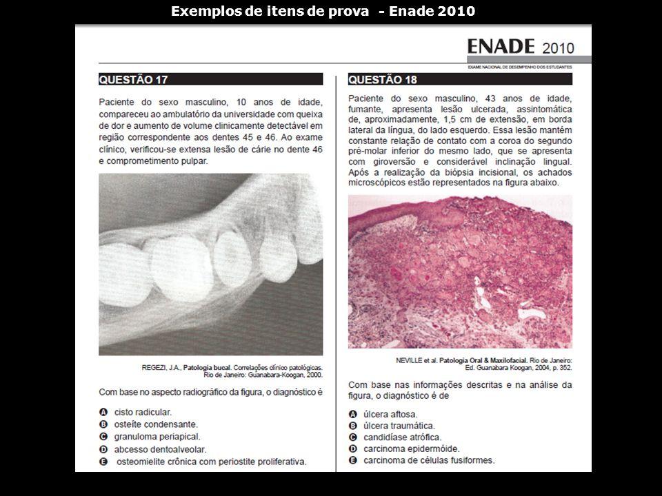 Exemplos de itens de prova - Enade 2010