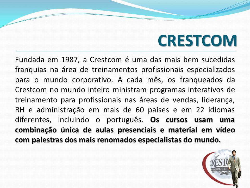 CRESTCOM Os cursos usam uma combinação única de aulas presenciais e material em vídeo com palestras dos mais renomados especialistas do mundo. Fundada