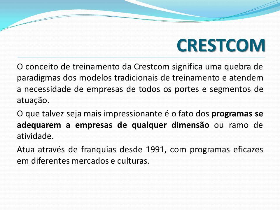 CRESTCOM O conceito de treinamento da Crestcom significa uma quebra de paradigmas dos modelos tradicionais de treinamento e atendem a necessidade de e
