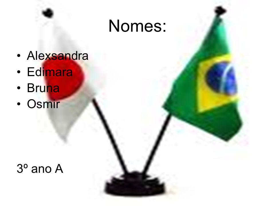 Nomes: •Alexsandra •Edimara •Bruna •Osmir 3º ano A