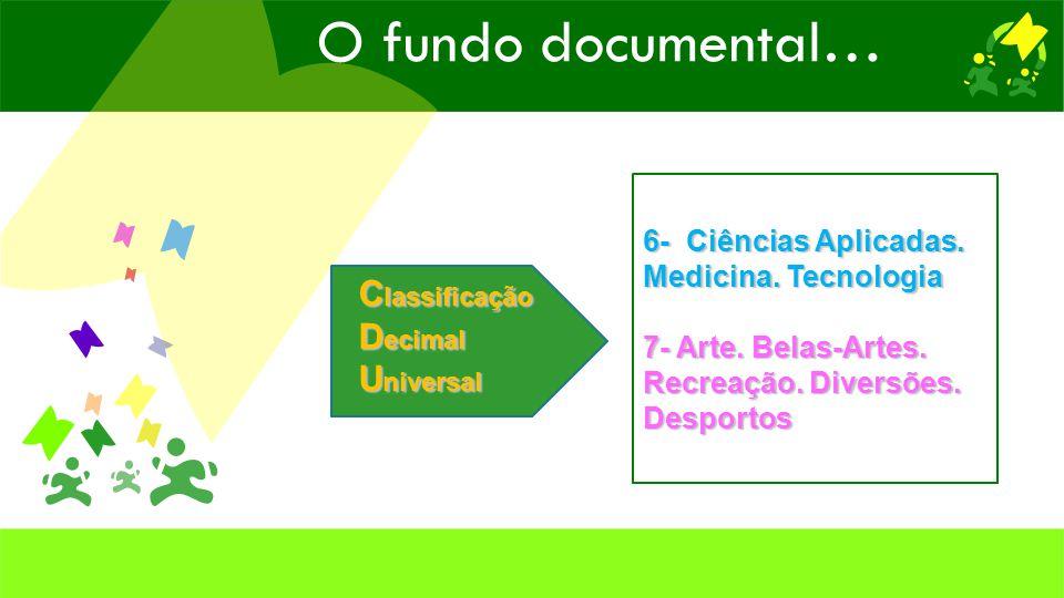 C lassificação D ecimal U niversal 6- Ciências Aplicadas.