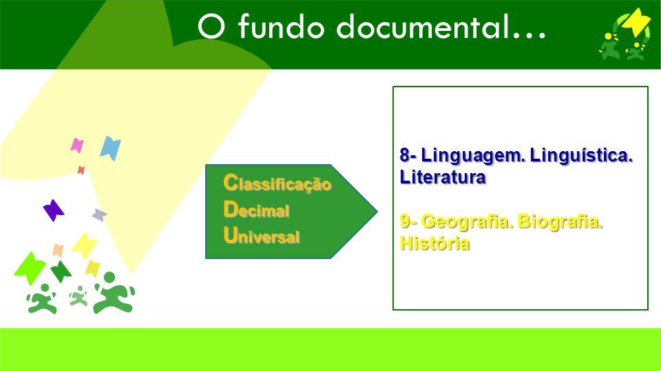 C lassificação D ecimal U niversal 8- Linguagem. Linguística.