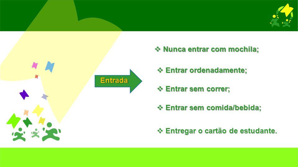 Entrada  Fazer o registo de entrada: NomeAnoData Hora de entrada Intenção
