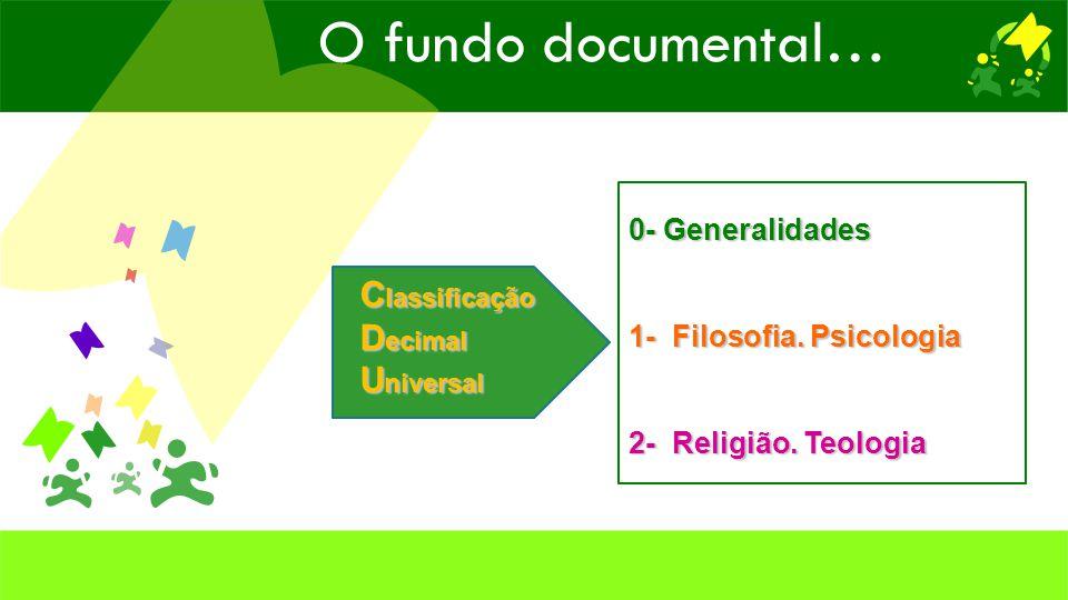 C lassificação D ecimal U niversal 3- Ciências Sociais.