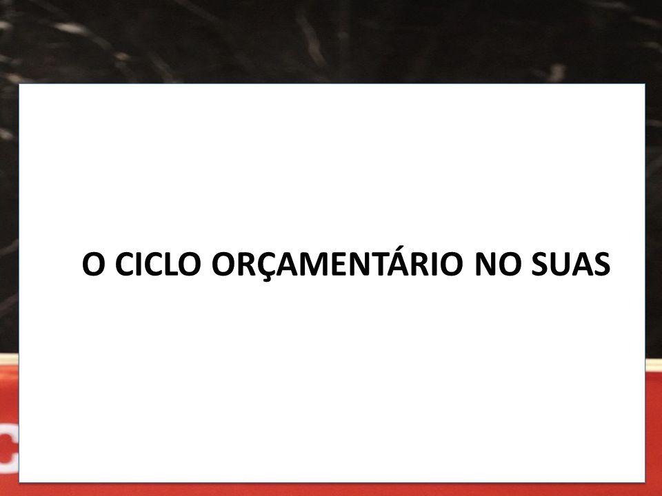O CICLO ORÇAMENTÁRIO NO SUAS