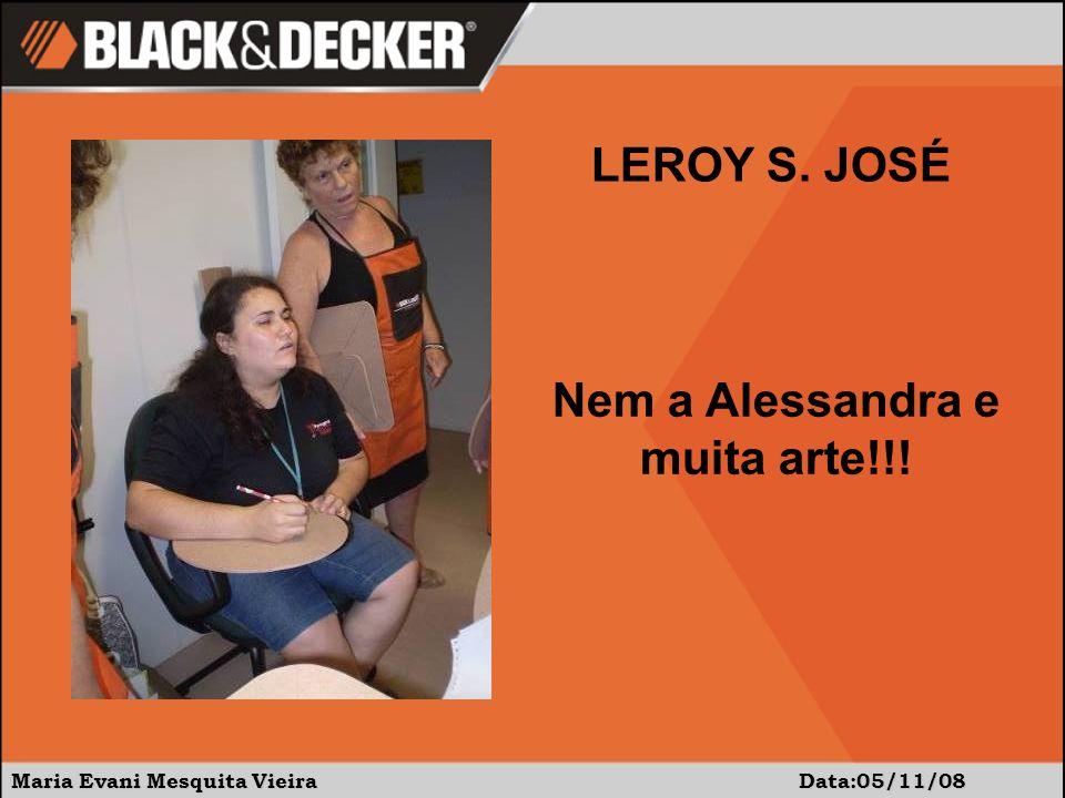Maria Evani Mesquita Vieira Data:05/11/08 Nem a Alessandra e muita arte!!! LEROY S. JOSÉ