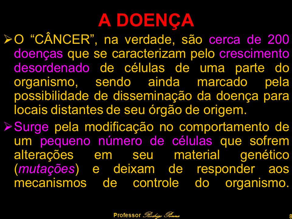 """8 Professor Rodrigo Penna A DOENÇA  O """"CÂNCER"""", na verdade, são cerca de 200 doenças que se caracterizam pelo crescimento desordenado de células de u"""