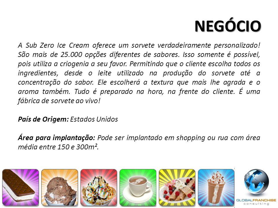 A Sub Zero Ice Cream oferece um sorvete verdadeiramente personalizado! São mais de 25.000 opções diferentes de sabores. Isso somente é possível, pois