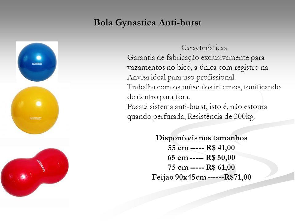 Bola Gynastica Anti-burst Características Garantia de fabricação exclusivamente para vazamentos no bico, a única com registro na Anvisa ideal para uso
