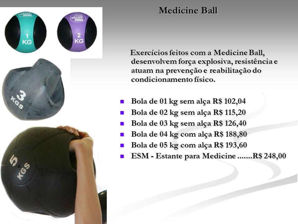 Medicine Ball Exercícios feitos com a Medicine Ball, desenvolvem força explosiva, resistência e atuam na prevenção e reabilitação do condicionamento f