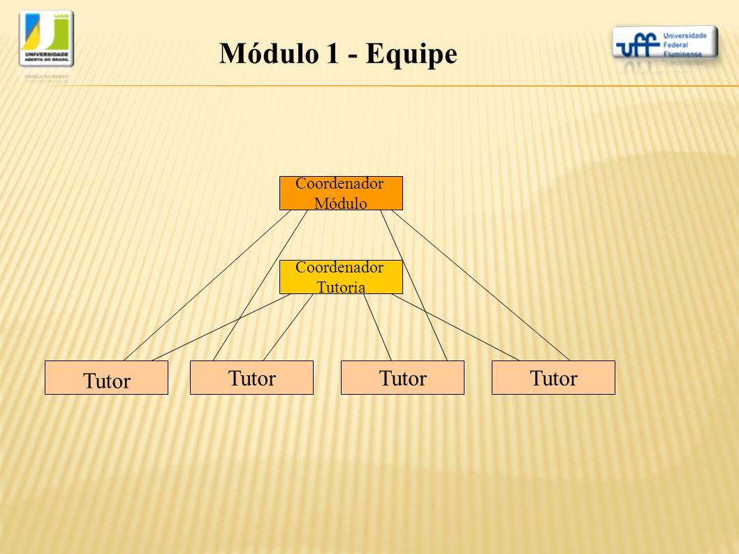 Coordenador Módulo Coordenador Tutoria Tutor Módulo 1 - Equipe