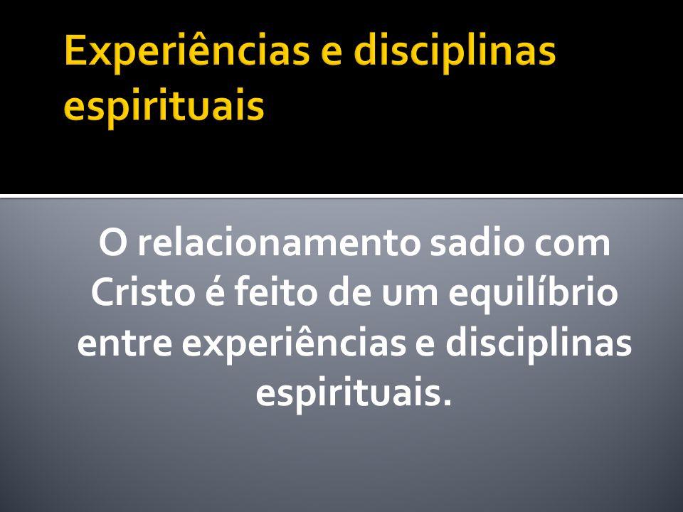 As disciplinas espirituais são práticas espirituais que exercitam a nossa fé, reforçam a nossa comunhão com Deus e transformam em ação os ensinamentos da Palavra de Deus.