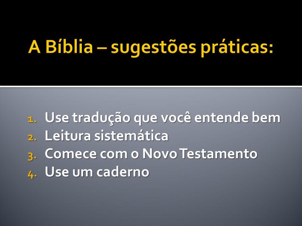 1. Use tradução que você entende bem 2. Leitura sistemática 3. Comece com o Novo Testamento 4. Use um caderno
