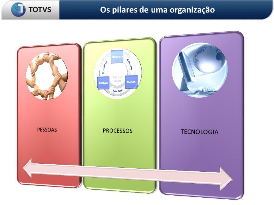 OS 3 PILARES DA ORGANIZAÇÃO Os pilares de uma organização