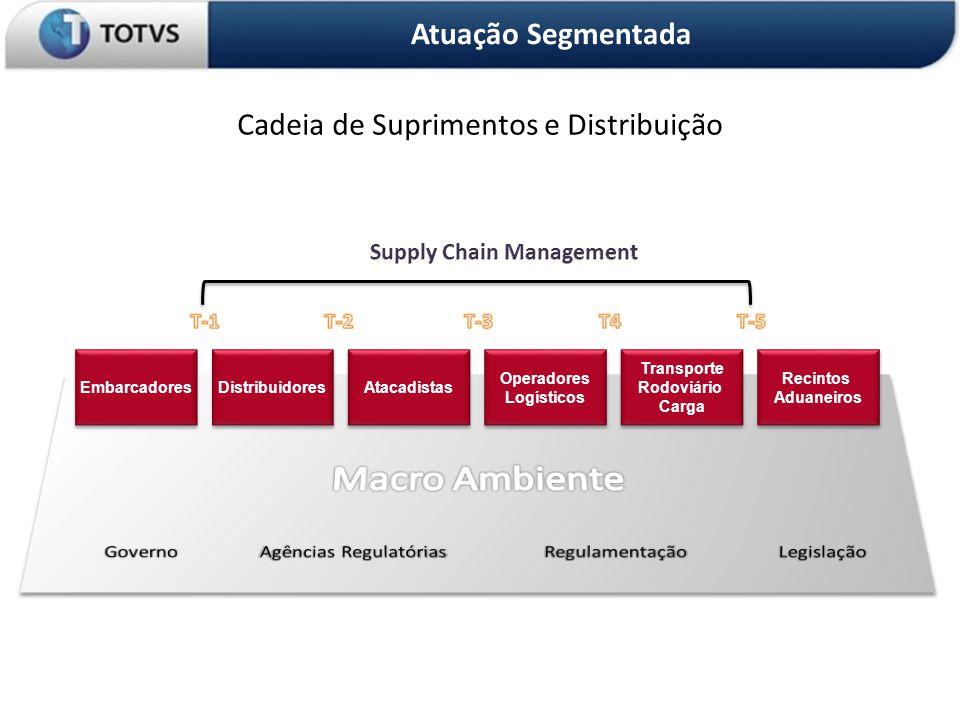 OS 3 PILARES DA ORGANIZAÇÃO Atuação Segmentada Cadeia de Suprimentos e Distribuição Embarcadores Distribuidores Atacadistas Operadores Logísticos Transporte Rodoviário Carga Recintos Aduaneiros