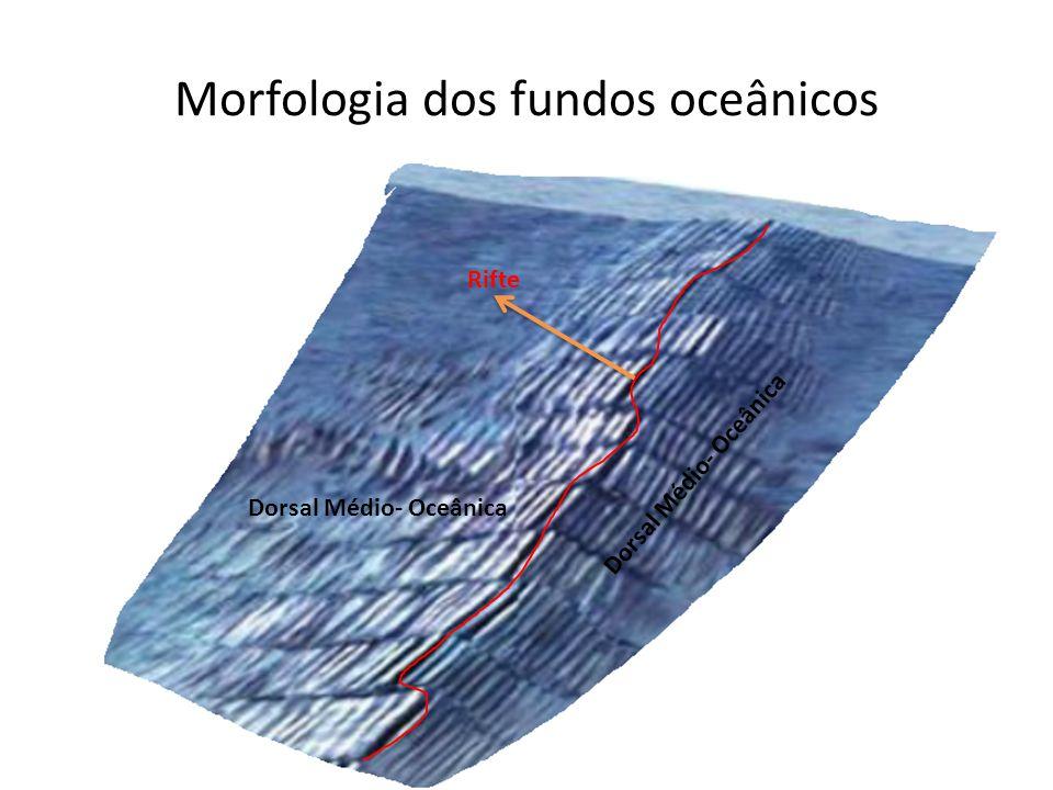 Morfologia dos fundos oceânicos Rifte Dorsal Médio- Oceânica