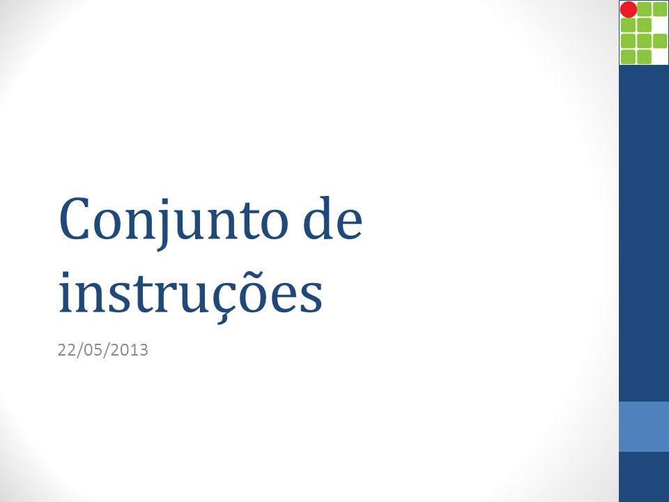 CARACTERÍSTICAS E FUNÇÕES Conjunto de instruções Prof.