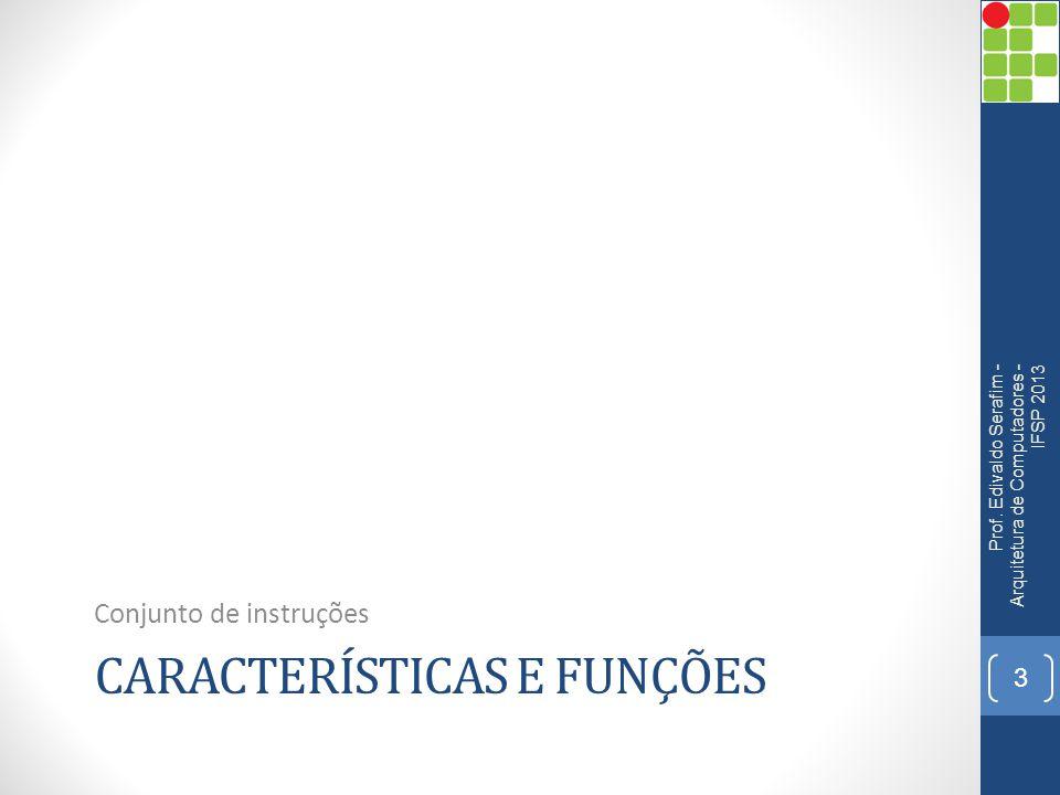 TIPOS DE OPERANDOS Prof. Edivaldo Serafim - Arquitetura de Computadores - IFSP 2013 14
