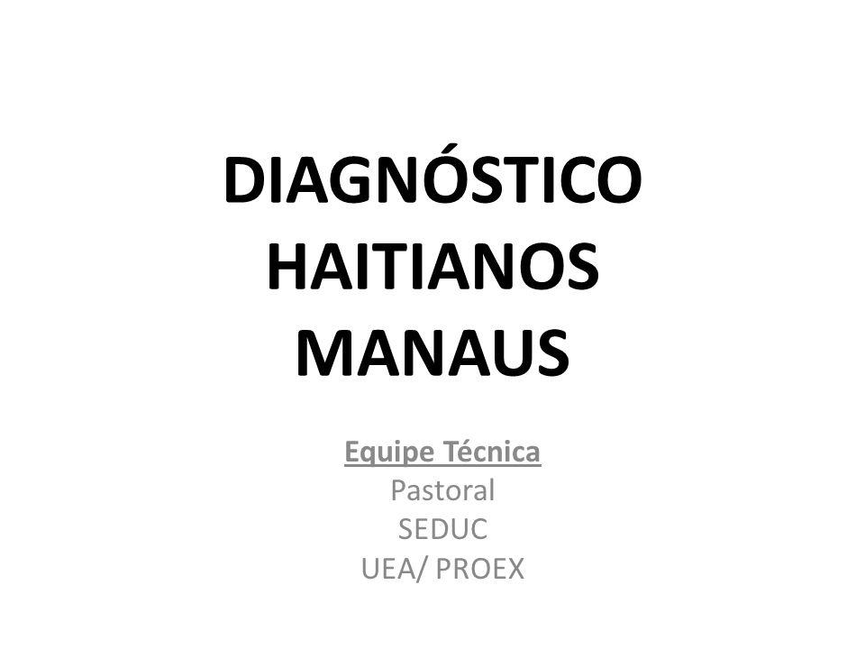 DIAGNÓSTICO HAITIANOS MANAUS Equipe Técnica Pastoral SEDUC UEA/ PROEX