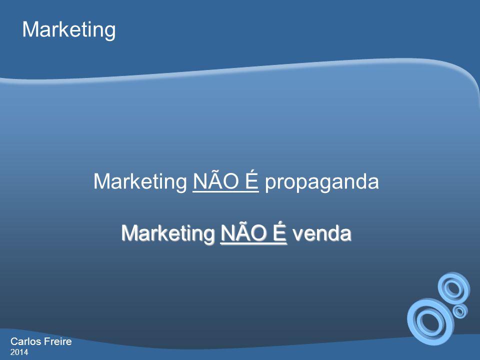 Carlos Freire 2014 Marketing Marketing NÃO É propaganda Marketing NÃO É venda