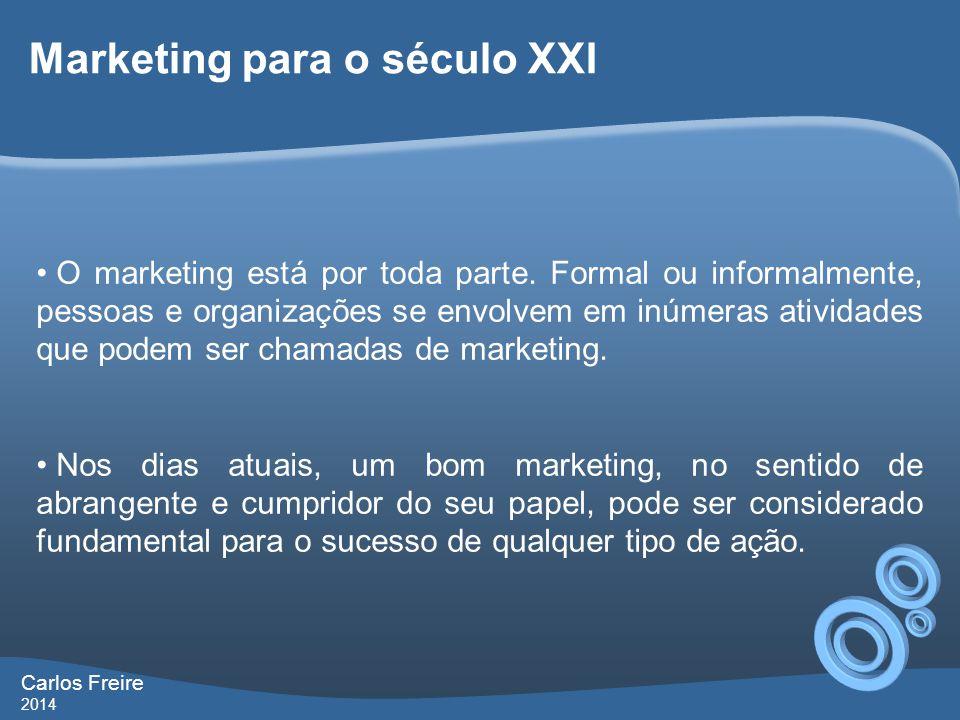 Marketing para o século XXI • O marketing está por toda parte.