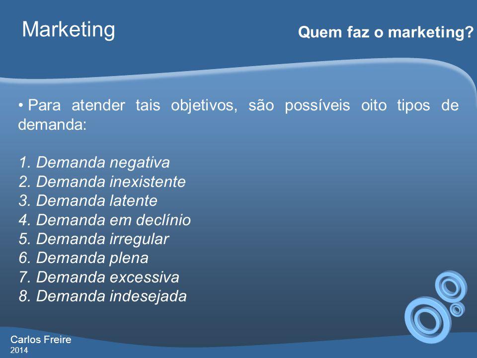 Carlos Freire 2014 Marketing Quem faz o marketing.