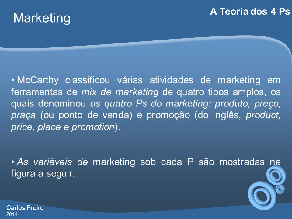 Carlos Freire 2014 Marketing A Teoria dos 4 Ps