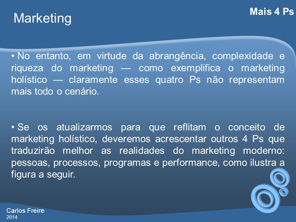 Carlos Freire 2014 Marketing Mais 4 Ps +