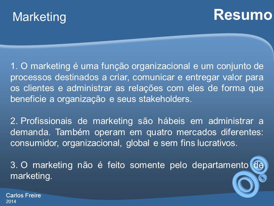 Carlos Freire 2014 Marketing Resumo 1.