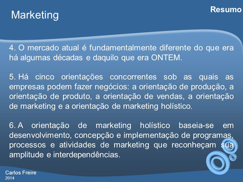 Carlos Freire 2014 Marketing Resumo 7.