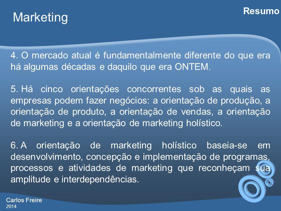 Carlos Freire 2014 Marketing Resumo 4.