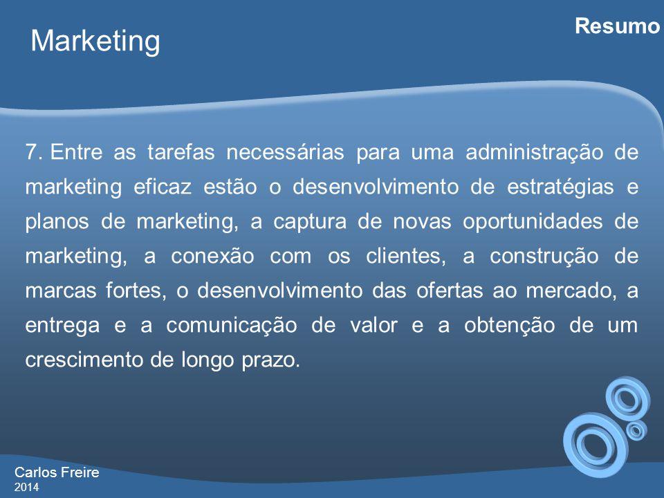 Carlos Freire 2014 Marketing Resumo 7.