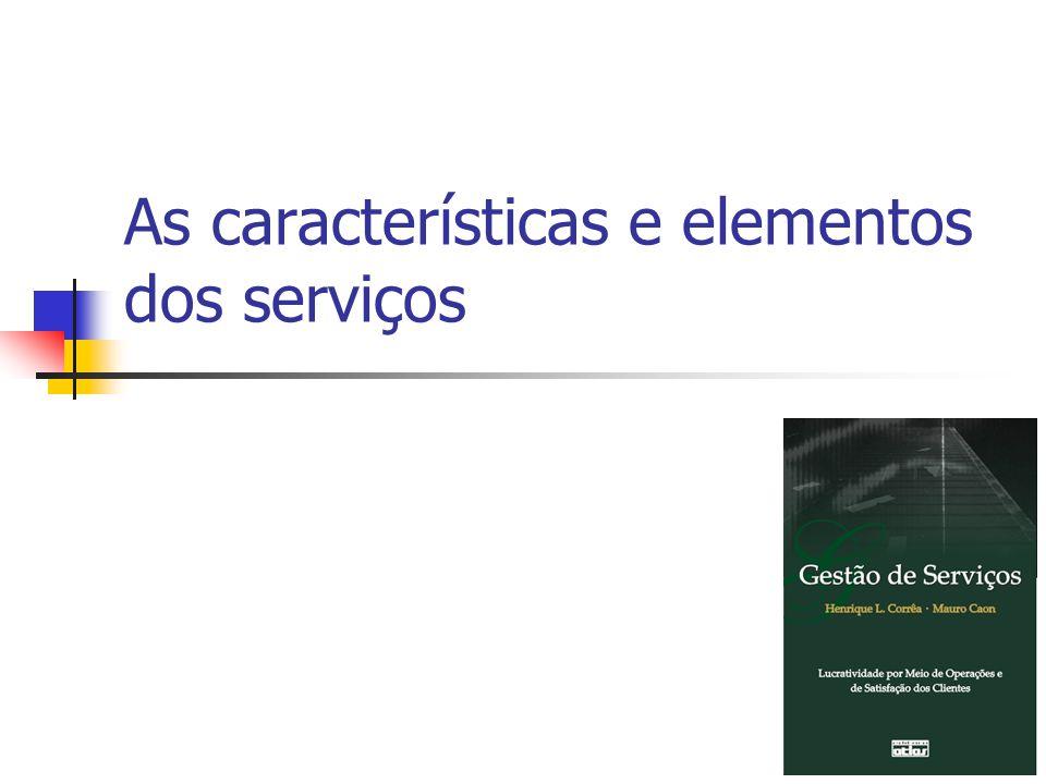 As características e elementos dos serviços