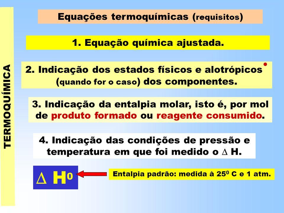 TERMOQUÍMICA Equações termoquímicas ( requisitos ) 1.