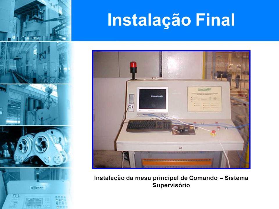 Instalação da mesa principal de Comando – Sistema Supervisório Instalação Final