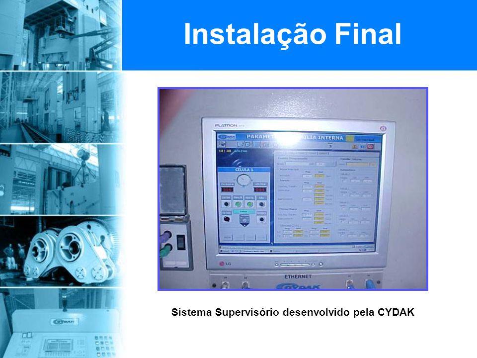 Sistema Supervisório desenvolvido pela CYDAK Instalação Final