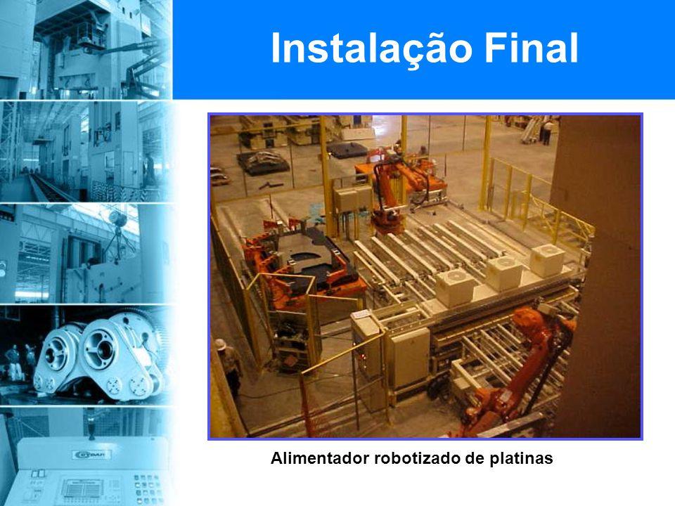 Alimentador robotizado de platinas Instalação Final