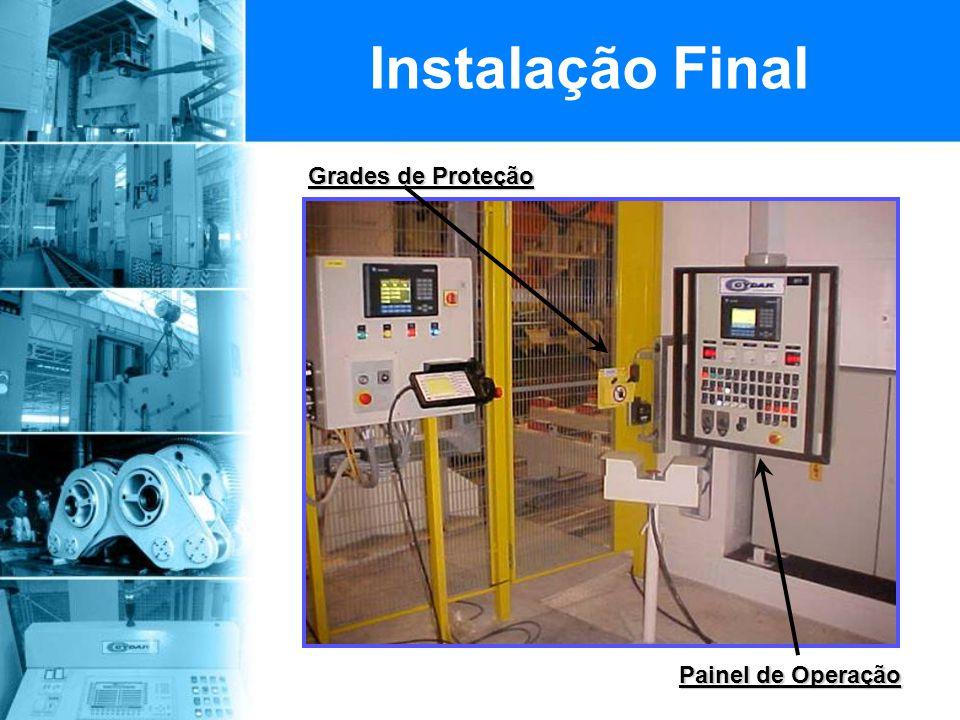 Grades de Proteção Painel de Operação Instalação Final